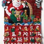 "Bucilla Must Be Santa Advent Calendar Felt Applique Kit -13"" x 25"""