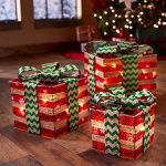 Lighted Christmas Gift Boxes