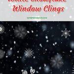 White Snowflake Window Clings