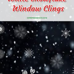 White Snowflake Window Clings
