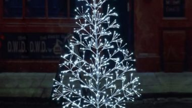 Lighted Metal Christmas Trees